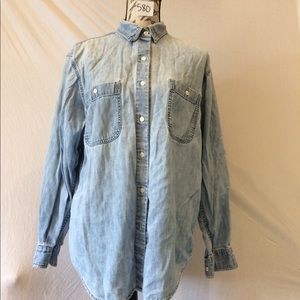 Banana Republic Jean Button Shirt